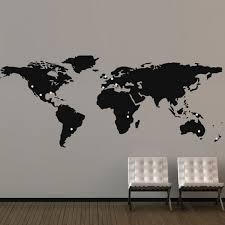 Map Wall Decor by Large World Map Wall Sticker Map Wall Decor