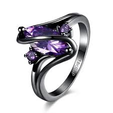 black gold rings images Purple sapphire black gold ring atperrys jpg