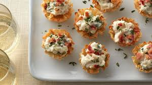 crab canapes crab and bacon phyllo cups recipe bettycrocker com
