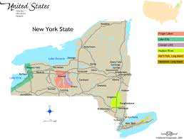 Saratoga State Park Map New York State Wineries Map New York Map