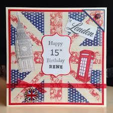 little lucy u0027s handmade cards london themed 15th birthday card