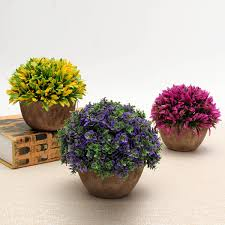 Artificial Topiaries - colorful artificial topiary tree ball plants pot garden office