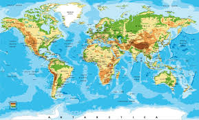 Colorful World Map Vector Wall Mural Wall Murals And Colorful