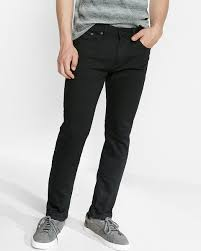slim black stretch jeans express