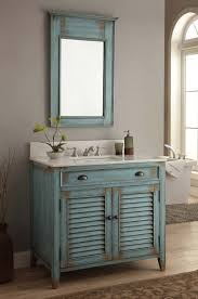 36 Inch Bathroom Vanity Distress Blue Abbeville Vanity U0026 Mirror Cf28884bu