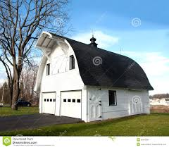 barn shaped garage stock image image of hill driveway 36412367