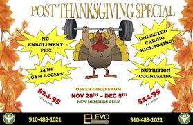 post thanksgiving special fayetteville nc elevo dynamics