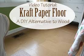 kraft paper floor a diy alternative to wood floors tutorial