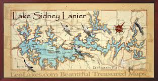 lake lanier map lake sidney lanier decor map