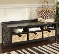 entryway bench with baskets and cushions bench narrow entryway bench with storage furniture skinny large