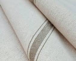 Upholstery Weight Fabric Grain Sack Fabric Farmhouse Fabric Cream Fabric Burgundy