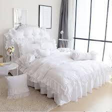 White Ruffle Duvet White Ruffle Duvet King U0026 Queen White Ruffle Girls Princess 6pc