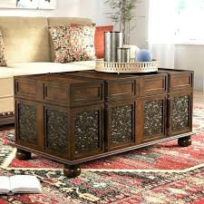trunk coffee table diy treasure chest coffee table ocean reef antique trunk side art piece