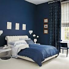 blue bedrooms this navy blue bedroom has blue bed