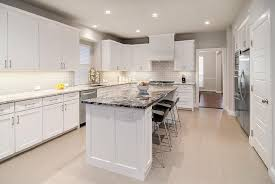 white island with black granite design ideas
