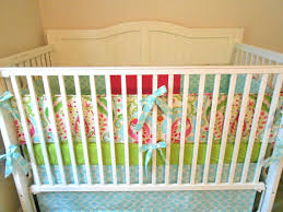 Pink And Aqua Crib Bedding Deposit Crib Bedding Blush Pink And Linen Ruffled Made To Order