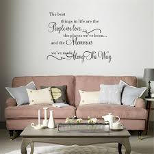 Wall Quotes For Living Room by The Best Things
