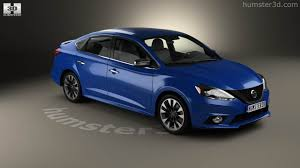 blue nissan sentra 2016 360 view of nissan sentra sr 2016 3d model hum3d store