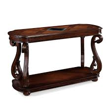 Teak Wooden Sofas Antique Narrow Sofa Console Table Made Of Teak Wood In Dark Brown