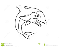 merry dolphin illustration coloring pages royalty free stock