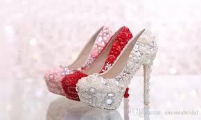wedding shoes glasgow white pink pearls bridal bridesmaid wedding shoes prom evening
