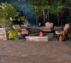 garden rustic backyard patio inspiration come with low stacked