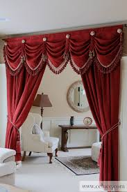 Curtain Drapes Red Chenille Austrian Diamond Swag Valance Curtain Drapes Http