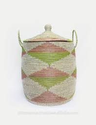 white seagrass storage basket with lid artex nam an laundry