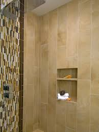 photos hgtv modern shower with vertical mosaic tiles and wall