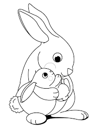 printable bunny coloring pages funycoloring