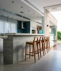 comptoir ciment cuisine plan de travail béton ciré pour l îlot de la cuisine design