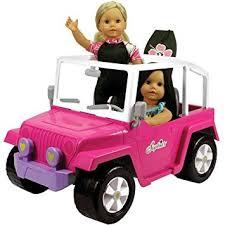 Kids Girls Dolls 4 Wheeler Amazon Com Doll Car 4x4 Doll Beach Cruiser For 18 Inch Dolls
