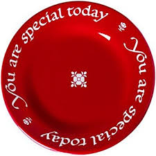 you are special today plate you are special today plate with pen