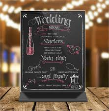 sample chalkboard menu template chalkboard bbq wedding menu