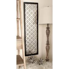 Home Depot Decorative Wall Panels 44 In X 12 In Modern Decorative Lattice Patterned Wood Mirror