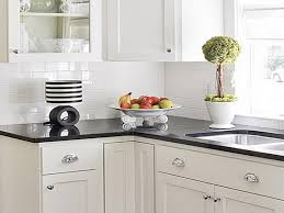 Black Countertop Kitchen by White Kitchen Backsplash Ivory Kitchen Cabinet Paint Color And