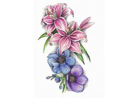 august birth flower tattoo designs 29738 hdpaint