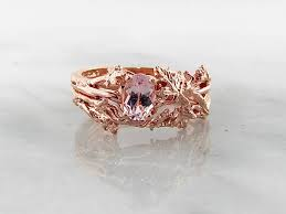 morganite gold engagement ring morganite gold wedding ring set maple leaf wexford jewelers