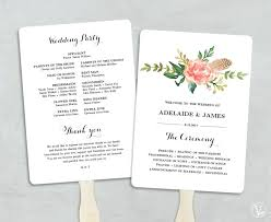 how to make wedding program fans best of program to make wedding invitations or print fans best