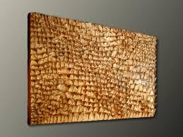 gold wall sculpture organic texture wall art textured wall panel