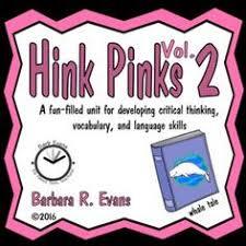 critical thinking foot hink pinks hinky pinkies vocab dev