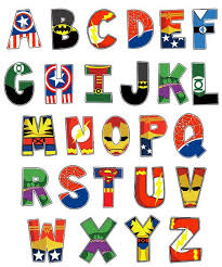 themed letters ten themed alphabet prints font and fonts