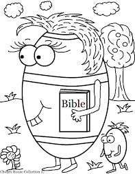 easter egg carrying bible coloring page