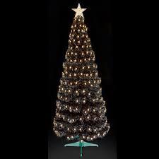 Fibre Optic Slim Christmas Trees - fibre optic multi action slim black christmas tree