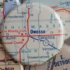 Owosso Mi Map Owosso Michigan Map Magnet