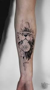 Forearm Tattoos - by koit berlin forearm black compass and