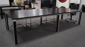 Black Meeting Table Andrew Black Oak Conference Table With Accented Chrome Black Legs