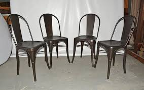 Tolix Bistro Chair Four Tolix Style Industrial Metal Bistro Chairs For Sale At 1stdibs