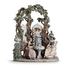 lladro tea in the garden figurine 01001759