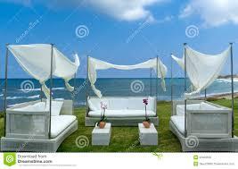 photos de pergola de pergola van de luxe op de mediterrane kust royalty vrije stock